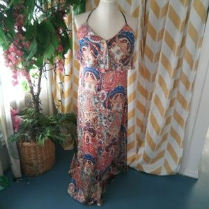Ark & Co Size S Sleeveless red blue maxi dress